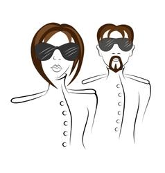 Men and women in uniform vector