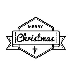 merry christmas greeting event emblem vector image