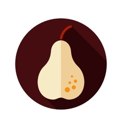 Pear flat icon with long shadow vector image vector image
