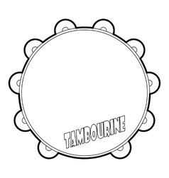 Tambourine icon outline style vector