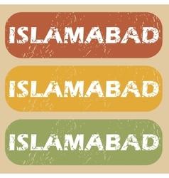 Vintage islamabad stamp set vector