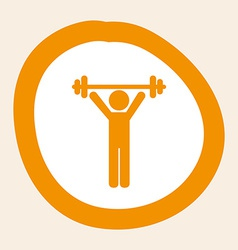 Weight lifting design vector