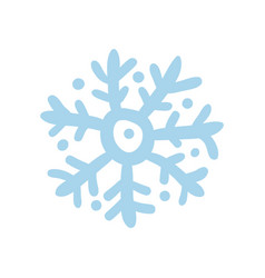Winter snowflake hand drawn isolated icon vector