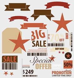 Word for Price tag sale coupon voucher vector image