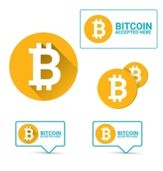 Bitcoin symbol bitcoin icon vector