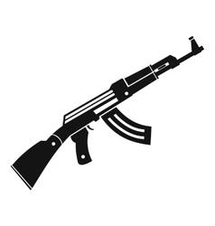 Submachine gun icon simple style vector image