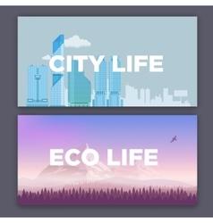 Concept of city environment vector