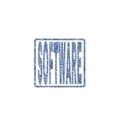 Software textile stamp vector