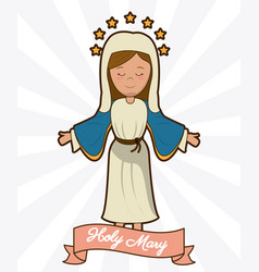 Holy mary ascension belief religion image vector