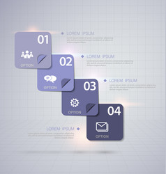 infographics design template with icons vector image