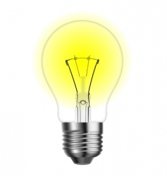 Tungsten light bulb vector
