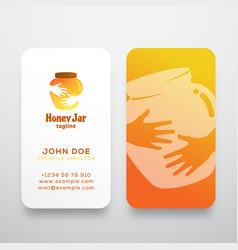 honey jar abstract sign symbol or logo vector image