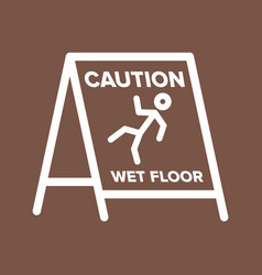 Wet floor sign vector