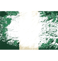 Nigerian flag grunge background vector