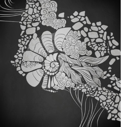 Chalk design vector image