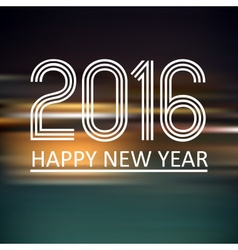 Happy new year 2016 on dark color horizontal lines vector