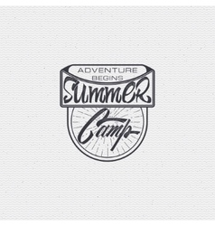 Summer camp - badge icon poster label print vector