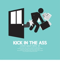 Kick in the ass symbol vector