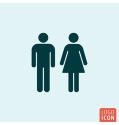 Man woman icon vector