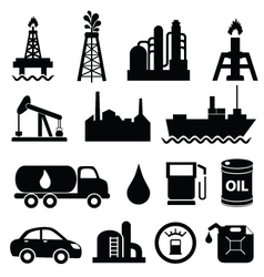 Oil and machinary icons vector