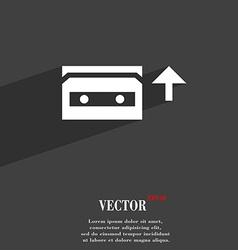 Audio cassette icon symbol flat modern web design vector