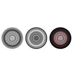 beautiful geometry mandala with repeated elements vector image vector image
