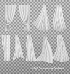 Big collection of transparent curtains vector image vector image