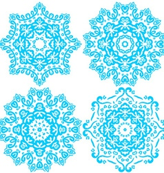 blue cute Christmas winter snowflakes vector image vector image