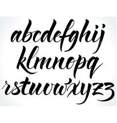 brushpen alphabet vector image vector image