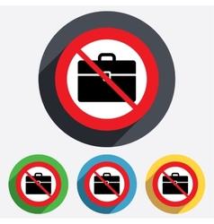Case sign icon no briefcase button vector