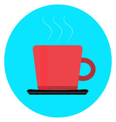Cup of coffee tea icon vector image
