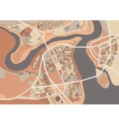 Decorative city map vector