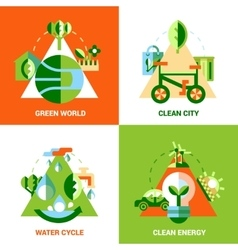 Ecology design concept set vector