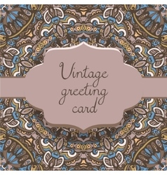 ethnic vintage ornamental card template vector image