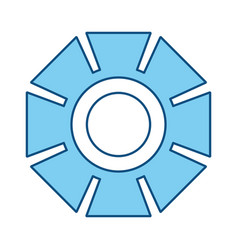 Gear machinery symbol vector