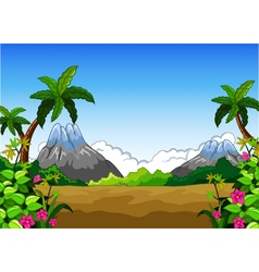 landscape with mountain background vector image vector image