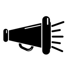 megaphone icon simple black style vector image