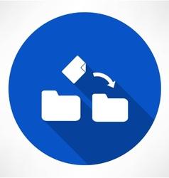 Movement a file icon vector