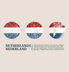 Netherlands flag design concept vector