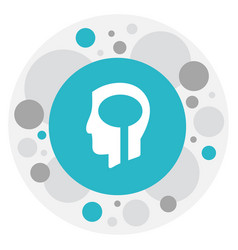 Of clinic symbol on brain icon vector