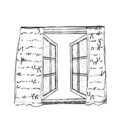 Opened window vector