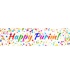 Purim banner carnival paper confetti background vector