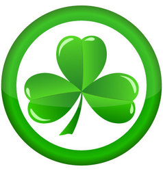 Round icon with a shamrock vector