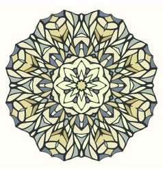 Round kaleidoscopic lace ornamental background vector image vector image