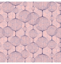 Seamless pattern of ball chains vector