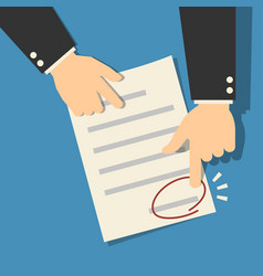 Signing sign contract paper document vector