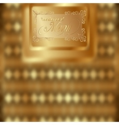 template for menu vintage gold vector image