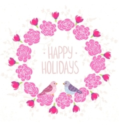 wreath pink vector image