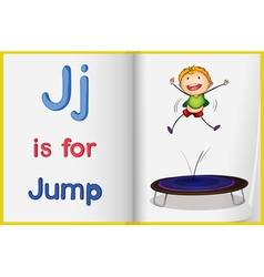 Jumping kid vector