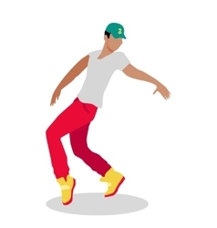 Street dance concept flat design hip hop break vector